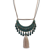 European Style Retro Fashion Tassel Drop Necklace