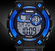 SKMEI ® Silicone Chronograph Men Sport Watches Waterproof Luminous Alarm Date Week Digital Watch Male Casual Military