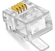 shengwei® rc-1050 enchufe rj11 4c 50pcs para el teléfono