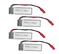 3.7 v 500 mah di ottimale u818a / u815a V929 / vincitore v949 di telecomando aereo giocattolo modello della batteria 4 pezzi