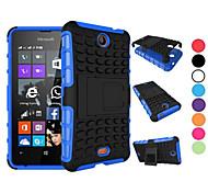 Caso 2 in 1 a due colori staccabile tpu + pc ibrido con kickstand per Nokia Lumia 430 (colori assortiti)