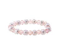 Korean  Fashion  Crystal Pearl Elastic Force Bracelet