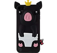 3D Crown Pig Silicone Soft Phone Case for iPod Touch 5 (Assorted Colors)
