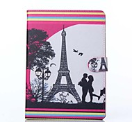 Liebe Muster PU-Leder Ganzkörper-Fall mit Ständer für iPad 2 Luft / ipad 6