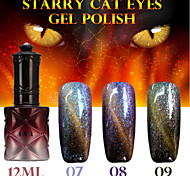 1PCS ANA Starry Cat Eyes Color Gel 12ml 12Colors Long Lasting Nail Polish 7-9