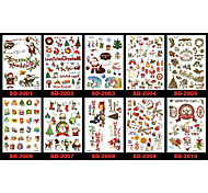 Christmas / New Year Santa Claus Series Paper 22*16*0.1cm Tattoo Stickers Tattoo Stickers(5pcs)(Random Colors)