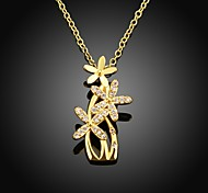 Xu™ Women's Flower Diamonds 18k Gold-plated Necklace