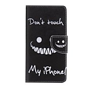 Black Smiling Face Painted PU Phone Case for Huawei P8 Lite/P8
