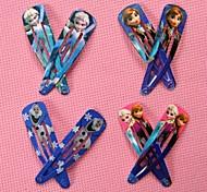 10pcs Random for Girl Fashion Character Party Elsa Anna Clip Hairpins Baby Headwear Olaf Snow White Ariel Clips
