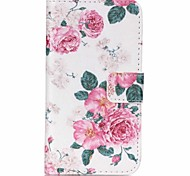 Peony Flower Painted PU Phone Case for Galaxy J1 Ace/J2/J1