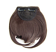 Fashion Clip in Synthetic Bang with Medium Brown Color