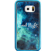 Letter Star Pattern Plating TPU Phone Case for iPhone Galaxy S6 edge Plus/S6 edge/S6