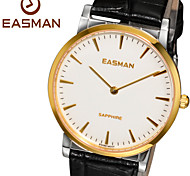 EASMAN Watch Mens Casual Genuine Leather Watches of Switzerland Swiss Quartz Sapphire Glass Watches for Men