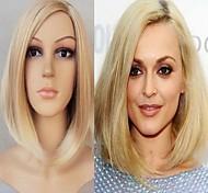Moda senhora cor loira perucas sintéticas longas médio