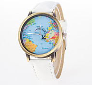 Woman's Watches The Plane Map Of The World Watch The Second Hand Mobile Pointer Personality Retro Rome Quartz Watch