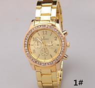 Damen Modeuhr Simultan? Diamant Uhr Quartz Imitation Diamant Legierung Band Silber Gold Rotgold 1 # 2 # 3 #
