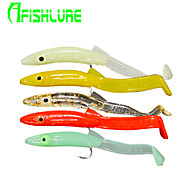"Afishlure Soft Bait Artificial Soft Eels with Hooks 1.3g / 1/18oz. / 1/10 oz. Ounce , 65 mm / 2-5/8"" inch 16pcs/lot"