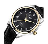 Men's Casual Genuine Leather Quartz Watches