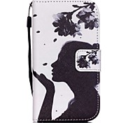 The New Blowing Petals Lanyard PU Leather Material Flip Card Cell Phone Case for Samsung Galaxy G530/G360