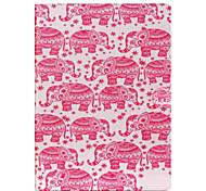 Elephant Pattern Flip the Card Holder Protection Case for iPad Pro