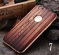 iPhone 7 Plus Luxury Metal Frame Wood Back Combo Phone Case for iPhone 6 Plus/6S Plus