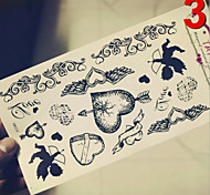 Temporary Tattoos Stickers Non Toxic Glitter Waterproof Multicolored Glitter 1 Package  Heart