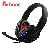 Boas Sport Digital USB Multimedia  Stereo Headphone with LED Light for Computer Game