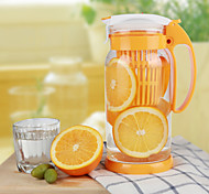 1500ml Heatproof Glass Cup Transparent Large Capacity Fruit Juice Kettle Plastic Cups Portable