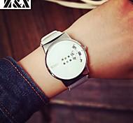 Mulheres Relógio de Moda Quartzo Couro Banda Preta Branco