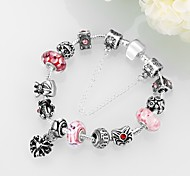 Fashion Exquisite Crystal Beads DIY Silver Bracelet