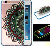 2-in-1 der Pfau-Muster-TPU rückseitige Abdeckung mit pc Autostoßfest Hülle für iPhone 6 / 6S