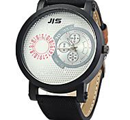 JIS Male Quartz Watch with Denim Band