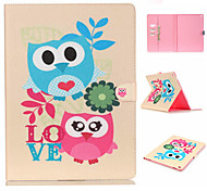 Owl Pattern Flip the Card Holder Protection Case for iPad Pro