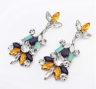 Bohemia Small Fresh Temperament Multicolored Gemstone Earrings Bridal Accessories