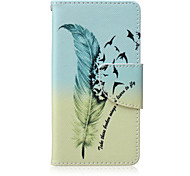 Feather Painted PU Phone Case for Sony Xperia Z5 Compact