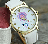 Ladies' New Fashion Leather Dreamcatcher Wrist Watch