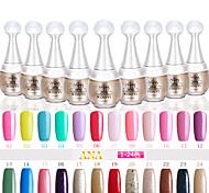 UVgelNagellack (15 ml) lang anhaltende Nagellack Gel-Lack 96 Farben für wählen 1-24