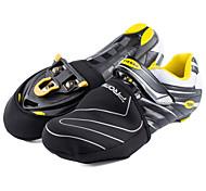 Protectores de Zapatos/Sobrecalzado Bicicleta Impermeable Mantiene abrigado Resistente al Viento Unisex Negro SBR