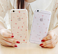 Rose Pink Girl Flower Love Lace Shivering Pattern Soft TPU Case for iPhone 6/iPhone 6S