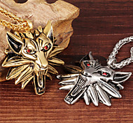 Fight the Wolf Cool Men's Stainless Steel Necklace