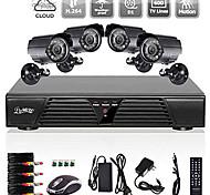 Liview® 8CH Full 960H DVR and 4pcs Outdoor 600TVLine Day/Night cameras