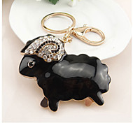 Zodiac Year of The Ram with Diamond Keychain Creative Small Gifts