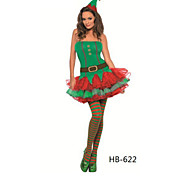 Green Angel Naughty Girl Velvet Christmas Costume