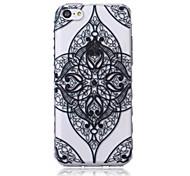 Mandala Pattern Transparent TPU Soft Case for iPhone5c