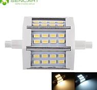 R7S 78mm 24 x 5730SMD 8W Warm White / Cool White 800LM 220°Beam Horizontal Plug Lights Dimmable Flood Light AC85-265V
