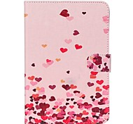 Pink Hearts Folio Leather Stand Cover Case With Stand for iPad Mini 3/2/1