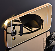 For Samsung Galaxy Case Plating / Mirror Case Back Cover Case Solid Color Metal Samsung E5