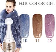 1PCS KOUYI Fur Color Gel 12Colors Long Lasting Nail Polish 10-12
