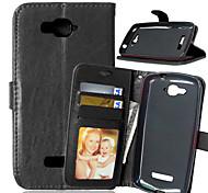 PU cuir carte portefeuille titulaire reposer le couvercle rabattable avec étui de cadre photo pour Alcatel c7 / C9 (couleurs assorties)