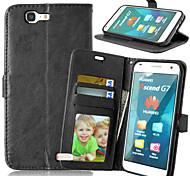 Tuta portafoglio / A portafoglio / con supporto Tinta unita Similpelle Difficile Copertura di caso per HuaweiHuawei P8 Lite / Huawei P7 /